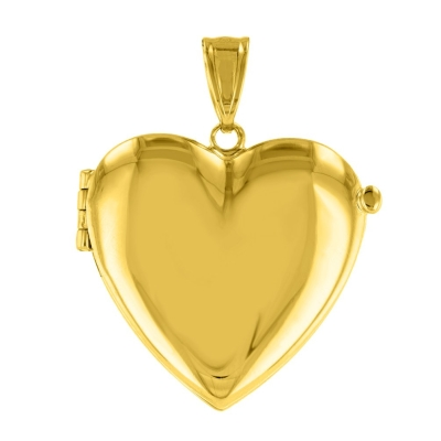 gold heart shaped locket necklace