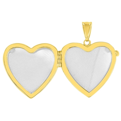 gold heart shaped locket pendant