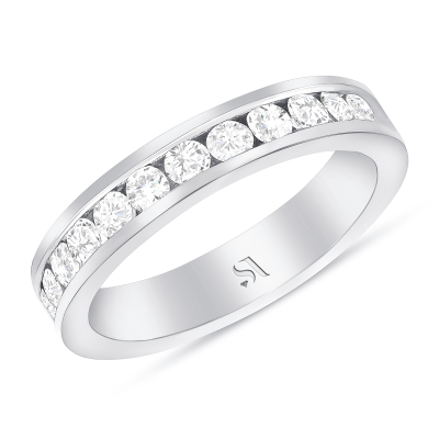Channel Setting Diamond Eternity Band | Sabrina A Inc