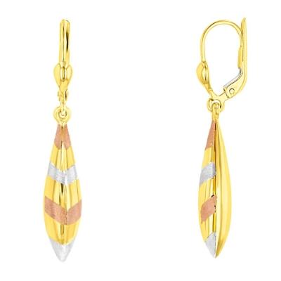 14k yellow gold teardrop earrings | 14k gold teardrop earrings