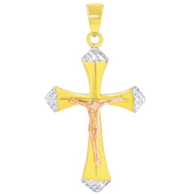 14k Yellow Gold and Rose Gold Latin Pendant