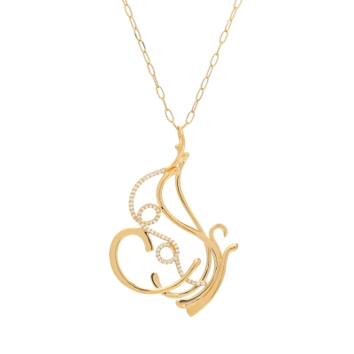Angel Butterfly with Diamonds Pendant