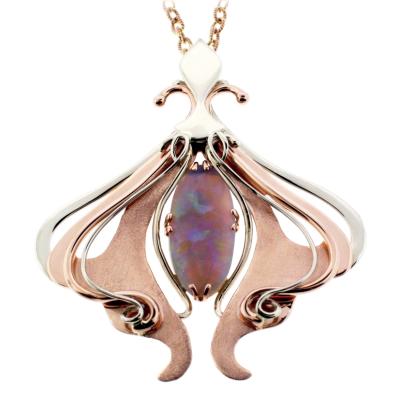 Pink Opal Flutter Pendant