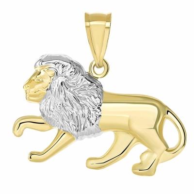14K Yellow Gold  Leo Zodiac Sign Pendant