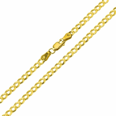 14K Two-Tone Gold Slender INRI Cross Pendant