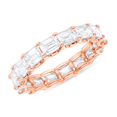 emerald cut eternity band rose gold | emerald cut eternity ring
