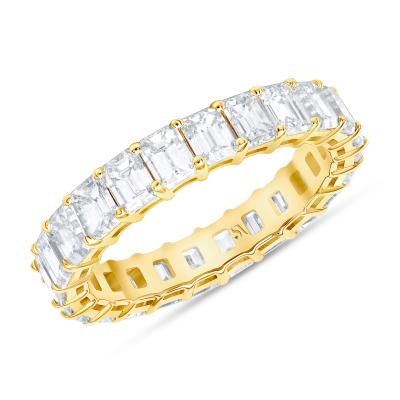 Emerald Cut Diamond Full Eternity Band | Sabrina A Inc