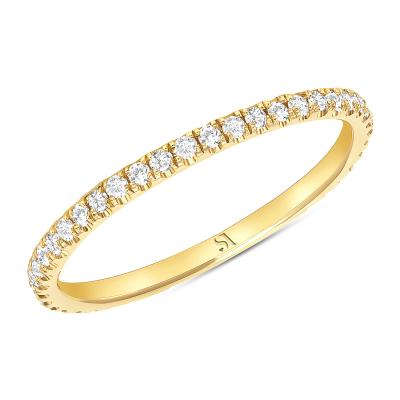 dainty diamond eternity band gold