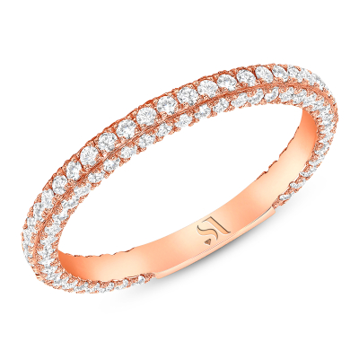 3D Round Diamond Eternity Band | Sabrina A Inc