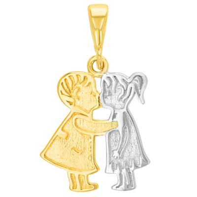 boy and girl necklace charm
