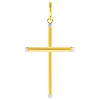 Gold Plain Slender Cross Pendant
