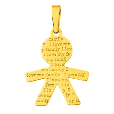 boy charm for necklace