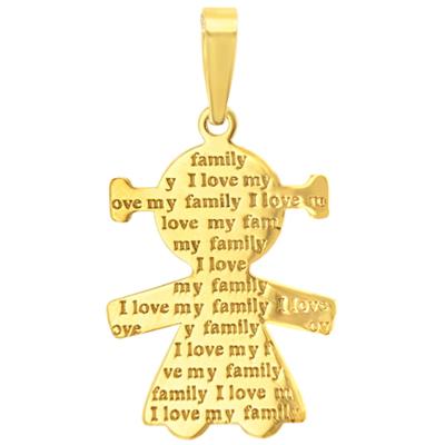 gold pendant for girl
