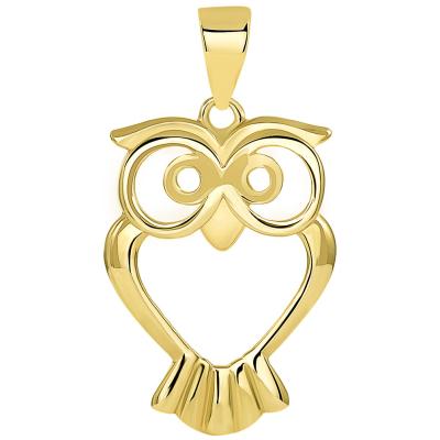 gold owl pendant necklace