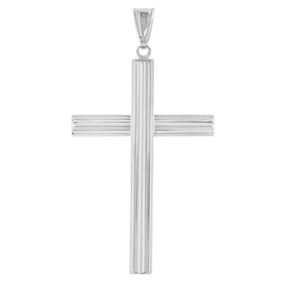 cross pendant white gold