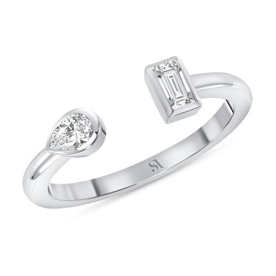 Open Double Diamond Ring