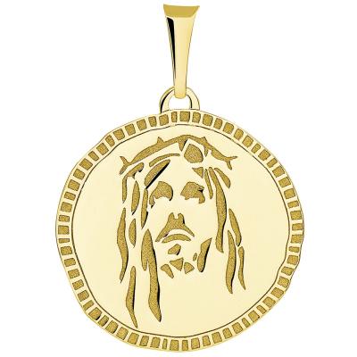 jesus medallion pendant