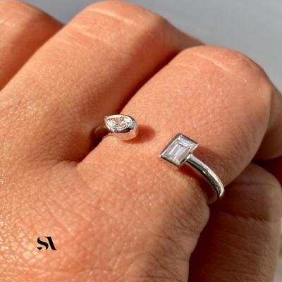 Open Double Diamond Ring Video