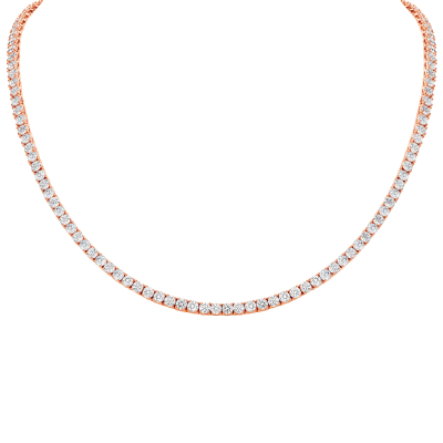 DIAMOND ETERNITY NECKLACE - ROSE GOLD
