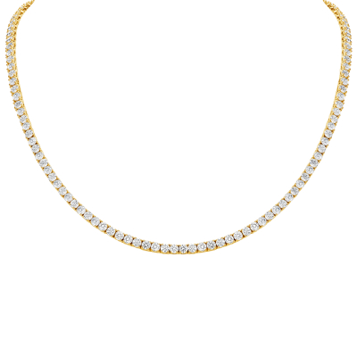 DIAMOND ETERNITY NECKLACE - YELLOW GOLD