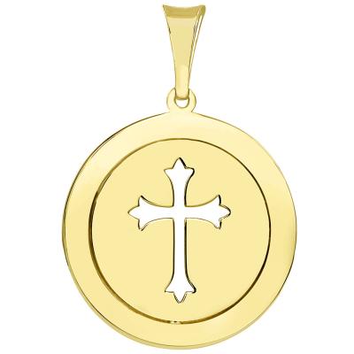gold cross medallion