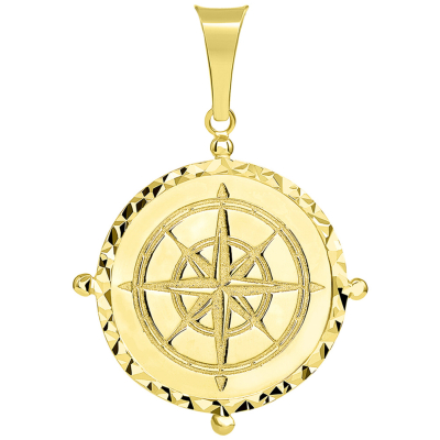 14k gold compass necklace | compass pendant necklace