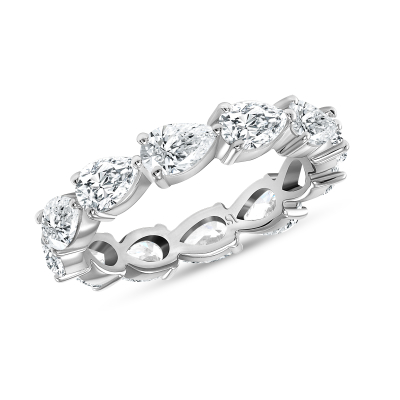 East West Pear Shape Diamond Eternity Band