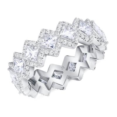princess cut diamond ring white gold