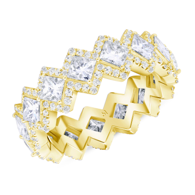 Princess Crown Ring Yellow Gold
