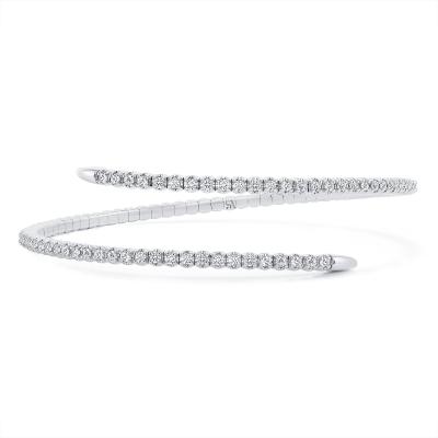 spiral bracelet white gold | Sabrina A Inc
