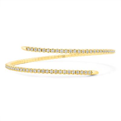 spiral bracelet gold | Sabrina A Inc