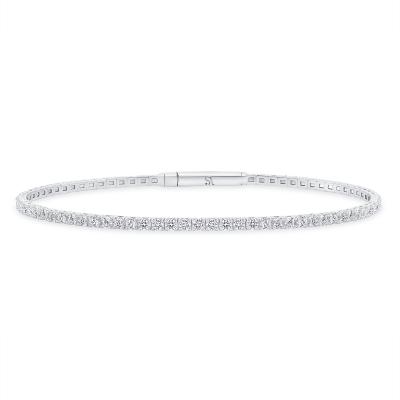 white gold diamond bangle   Sabrina A Inc