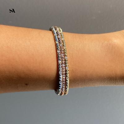 14k pyramid bracelet