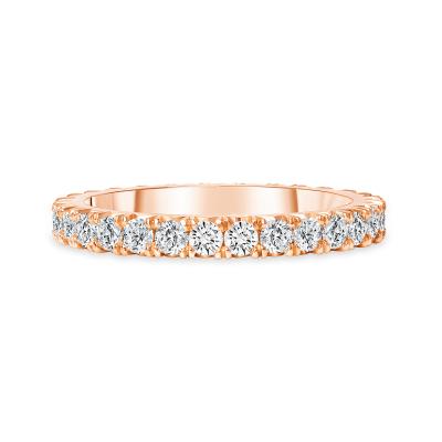 diamond platinum wedding ring rose gold