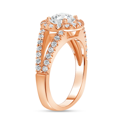 1.5 carat round halo engagement ring | Diamond Collection