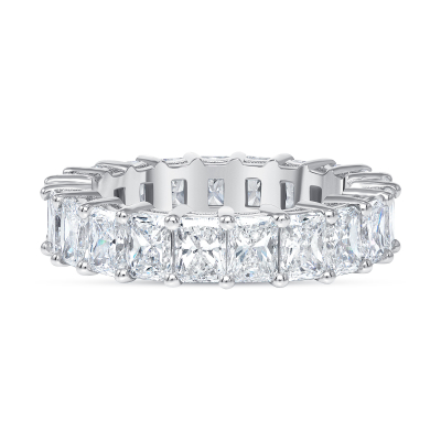 radiant diamond ring white gold