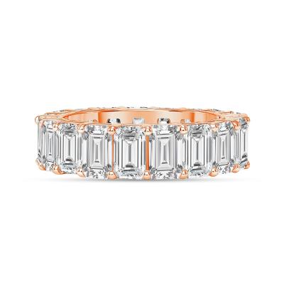 classic diamond ring in rose gold