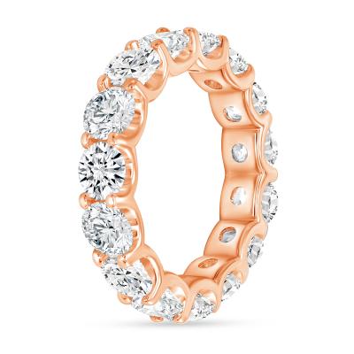 diamond stackable wedding ring rose gold