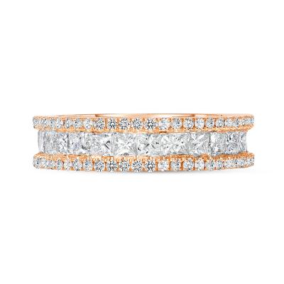 princess diamond wedding ring rose gold
