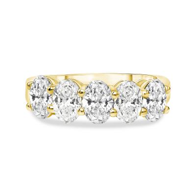 oval diamond wedding ring gold