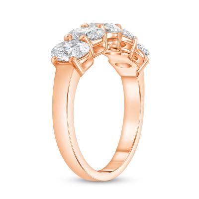 oval diamond wedding ring rose gold