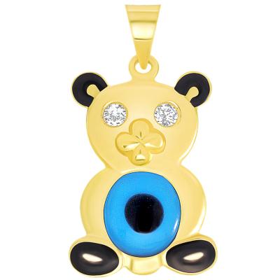 gold evil eye pendant