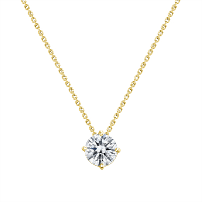 4 prong setting   solitaire diamond necklace