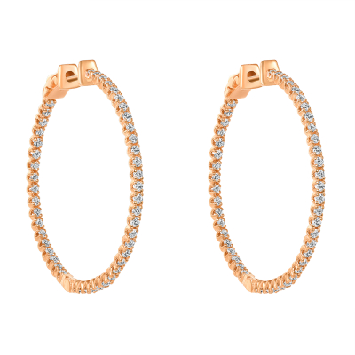 inside out diamond hoop earrings | inside out diamond hoop earrings yellow gold