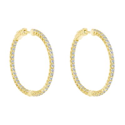round diamond hoop earrings   round brilliant diamond hoop earrings