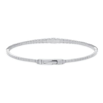 white gold diamond bangles