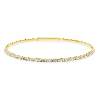 Round Diamond Flexible Bangle