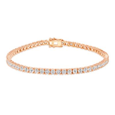 14k rose gold diamond tennis bracelets