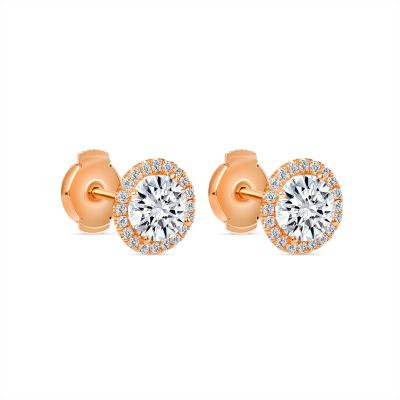 round halo stud earrings   diamond halo stud earrings