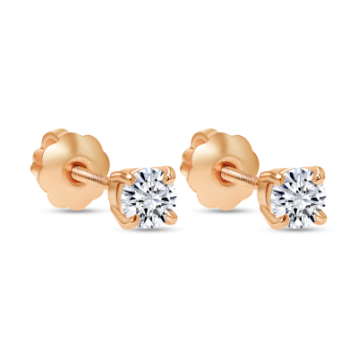 small rose gold diamond stud earrings